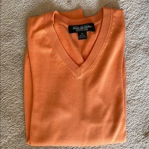 Brooks Brothers orange silk/cotton neck sweater
